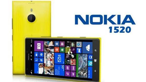 نوكيا تعتزم الكشف عن الهاتف الذكي 1520  + صورة الهاتف