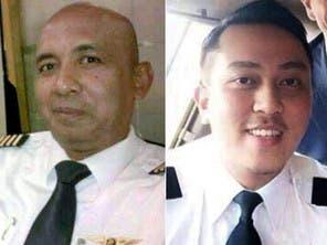 Pilot Zaharie Ahmad Shah (left) and co pilot Fariq Abdul Hamid (right