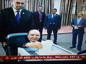 Bouteflika votes from wheel chair