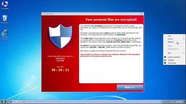 فيروس جديد يخطف ملفات الكمبيوتر