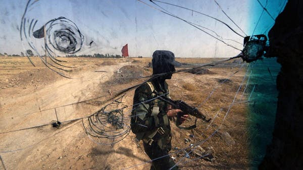 Iraqi Turkmen forces patrol a checkpoint, close to locations of ISIS fighters. (File photo: AFP)