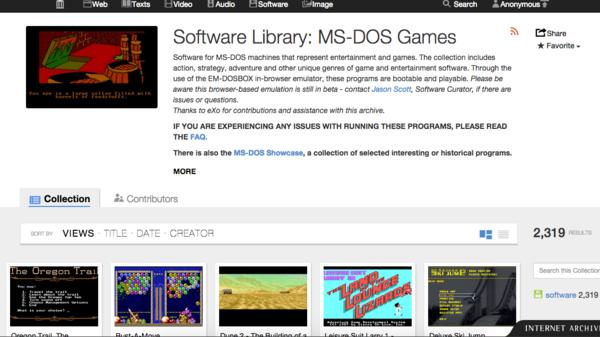 أكثر 2300 لعبة نظام ms-dos