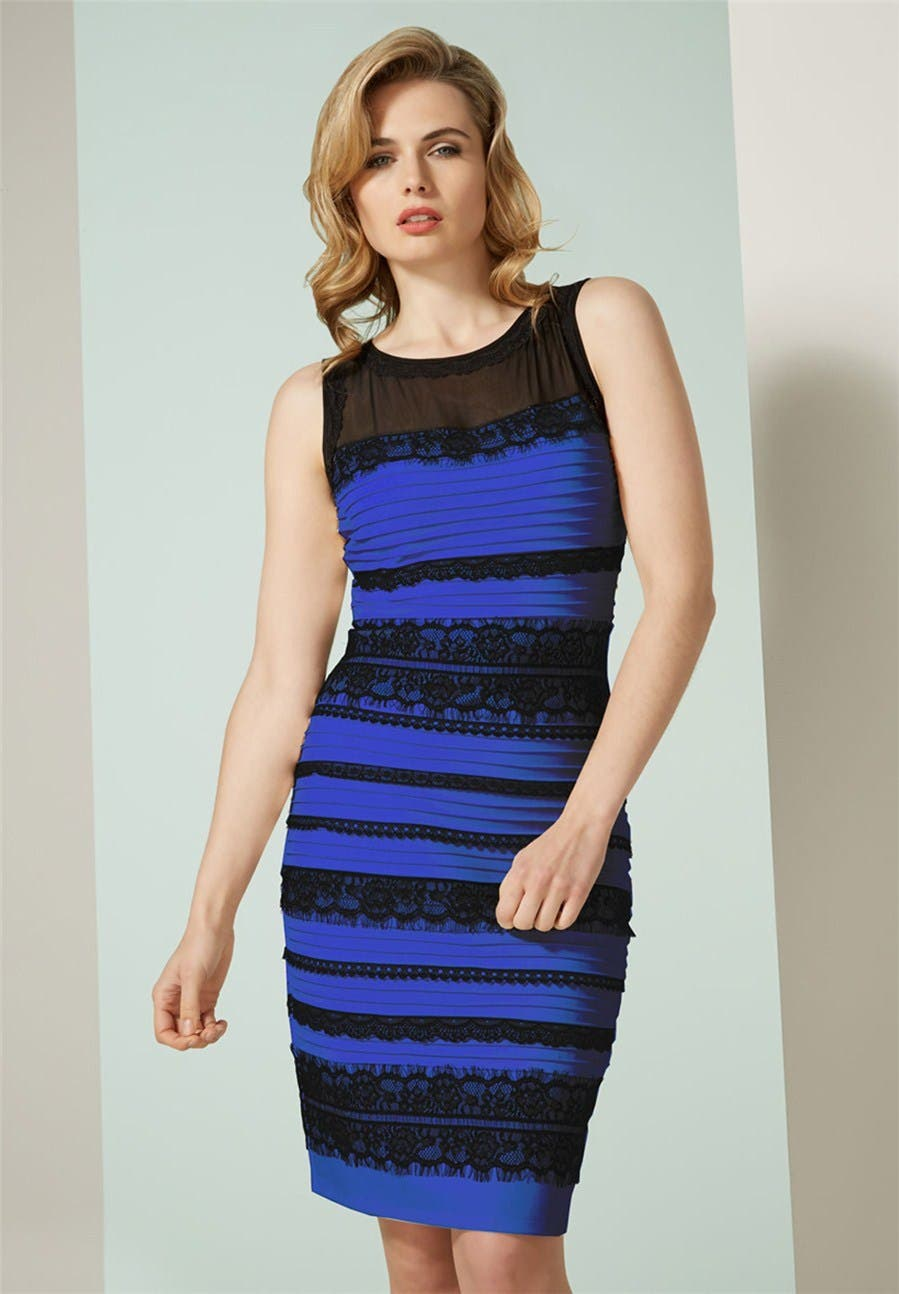 Black And Blue Dresses