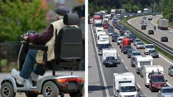 الماني يسلك طريقا سريعا كرسي