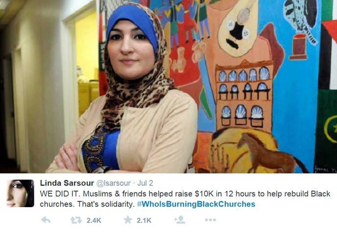 الفلسطينية ليندا صرصور مع تغريدتها