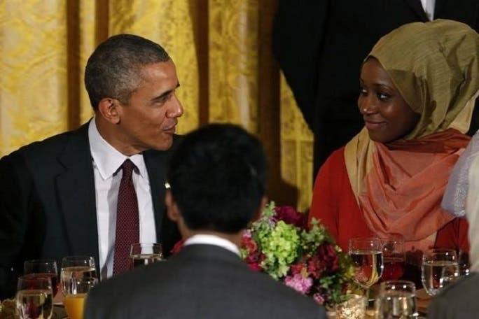 فاطمة أمة الله نايت، التقت العام الماضي بالرئيس الأميركي باراك أوباما في احدى المناسبات