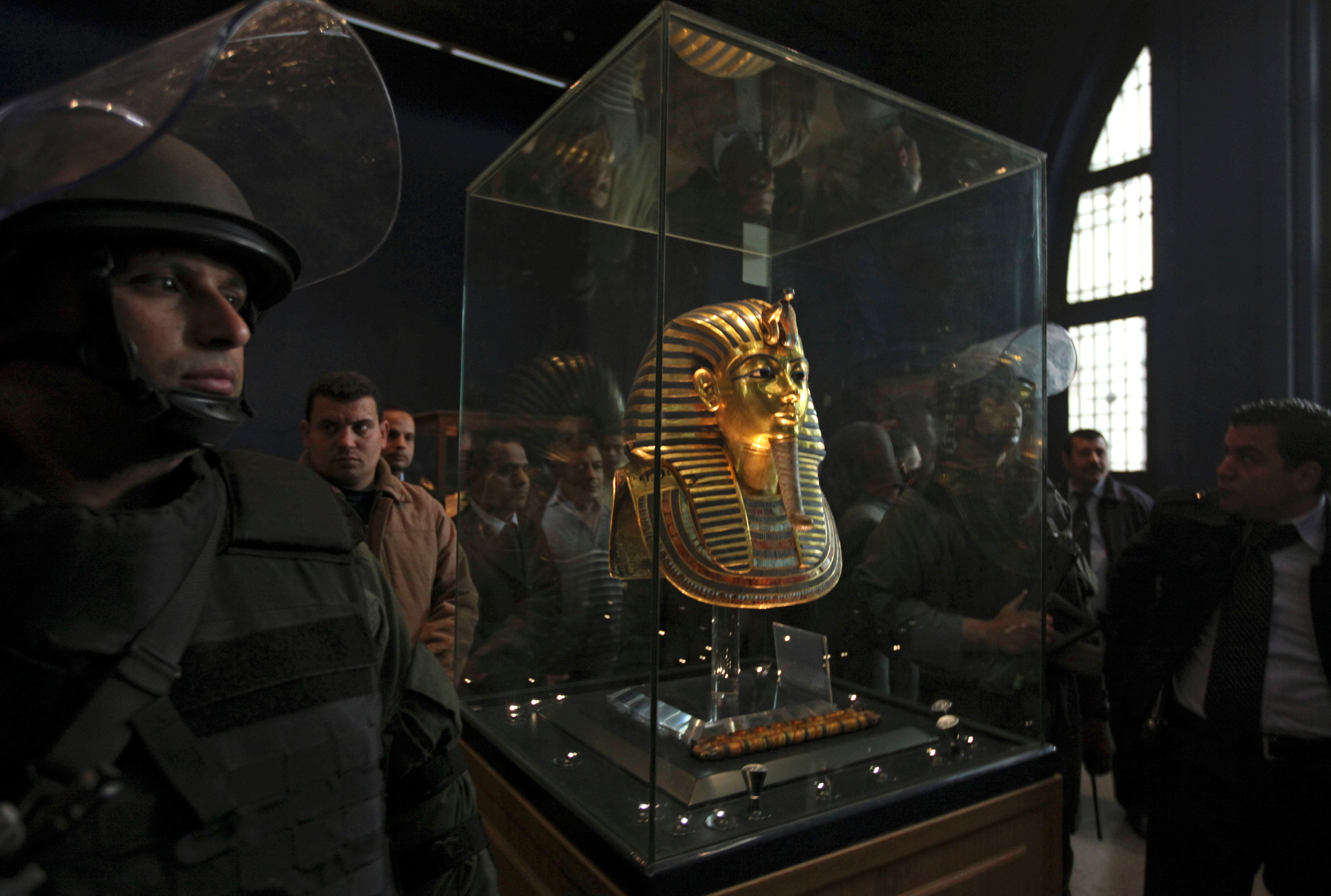 explain what tutankhamun's tomb and its Egyptian treasures found in tutankhamun's tomb the small tomb contained hundreds of objects (now housed in the egyptian museum in cairo), many richly decorated and covered in gold, that would be needed by the king in his afterlife.