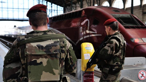 French soldiers patrol at Gare du Nord train station in Paris, France, Saturday, Aug. 22, 2015. (AP)