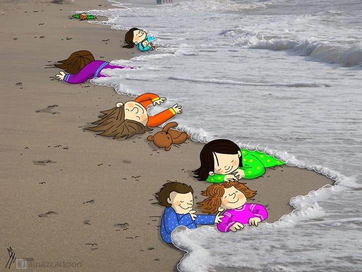 فنانو العالم يودّعون آلان السوري