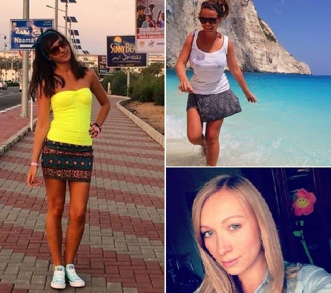 ألينا وأليزابيث وفكتوريا من مدينة سانت بطرسبورغ كن في شرم الشيخ وعلى متن الطائرة أيضا