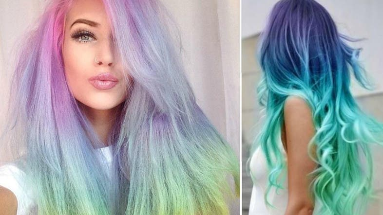 Pastels Plaits And Rainbows 6 Ways To Wear Rainbow Hair