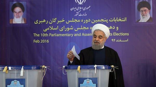 <br />الرئيس حسن روحاني يدلي بصوته