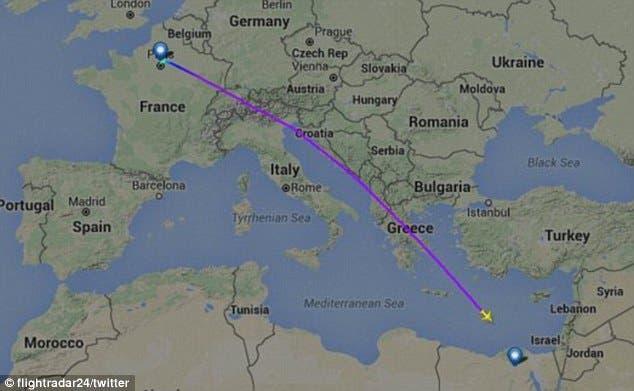 اختفاء طائرة مصرية راكباً إقلاعها