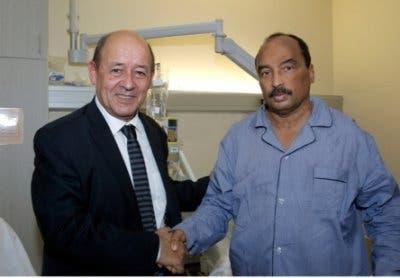 رئيس موريتانيا يستقبل وزير الدفاع الفرنسي