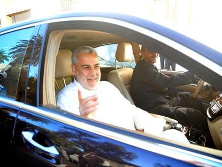 عبد الإله بن كيران وصل للبرلمان على متن سيارته الفاخرة