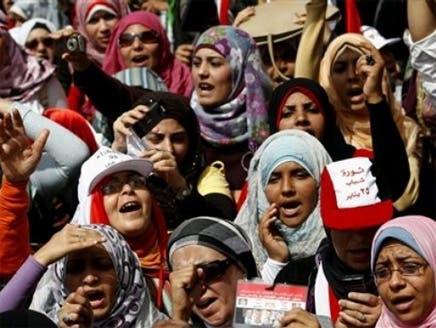مصريات في مظاهرة