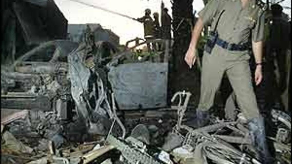 جانب من تفجيرات نفذتها القاعدة في مجمع المحيا