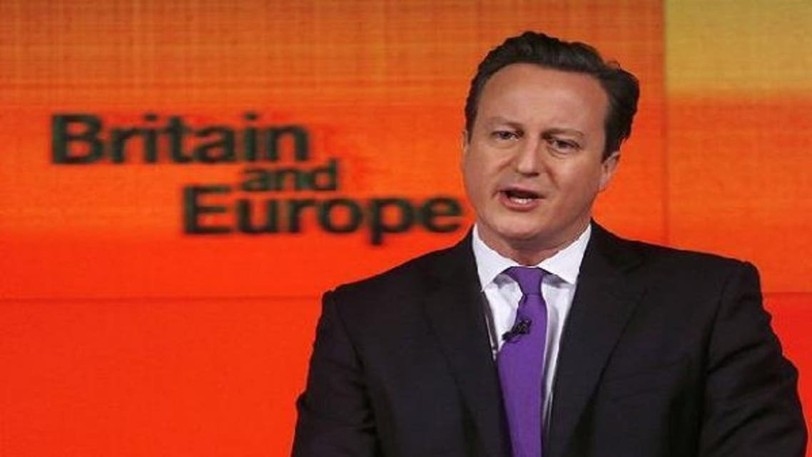 British Prime Minister David Cameron announced his vow to hold a referendum on Britain's membership of the EU.(Reuters)