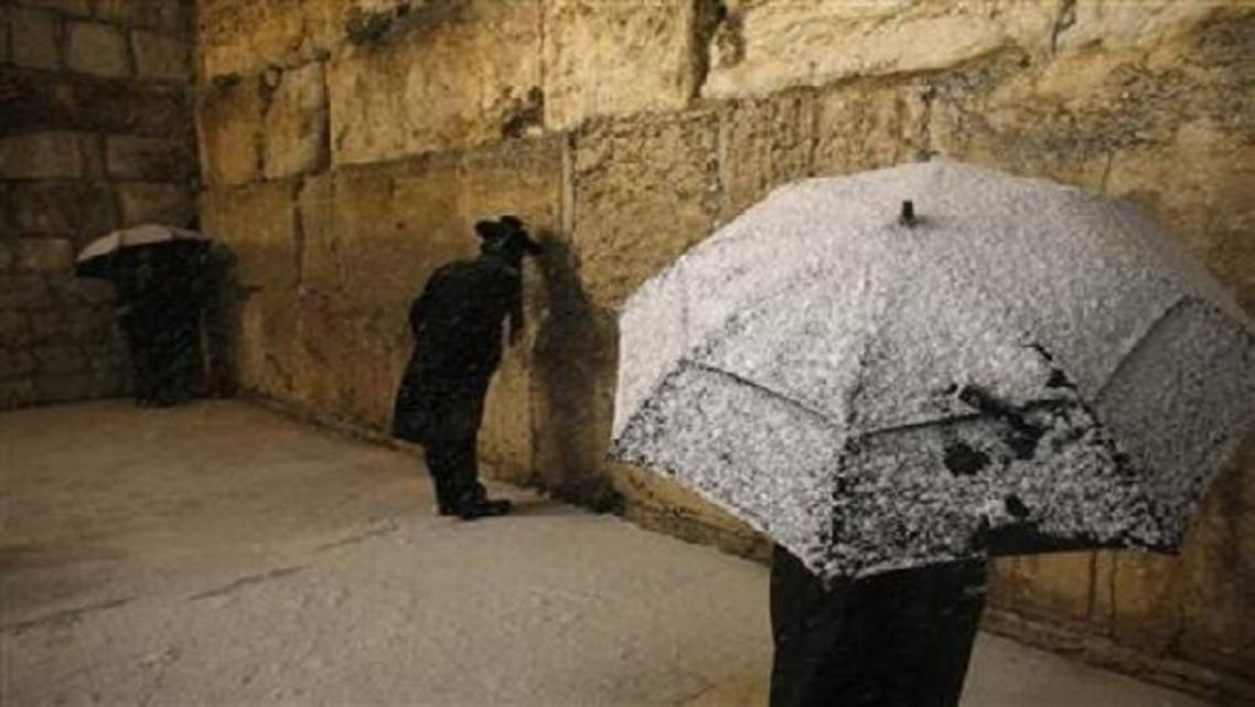 The gang targeted two Ultra-Orthodox Jewish men, hurling snowballs at them. (Reuters)
