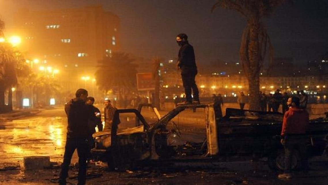 Clashes broke out for the second day at a court in Egypt\'s second city between protesters and security forces, as protesters demanded worthy verdicts for security officials on trial in the northern city for a deadly crackdown during the Arab Spring uprising two years ago. (AFP)