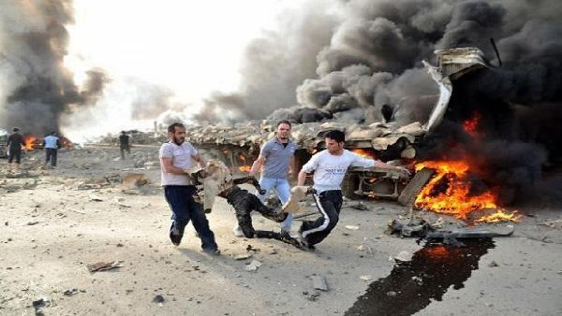 Syrian warplanes and tanks shelled rebel strongholds in the province of Damascus. (AFP)