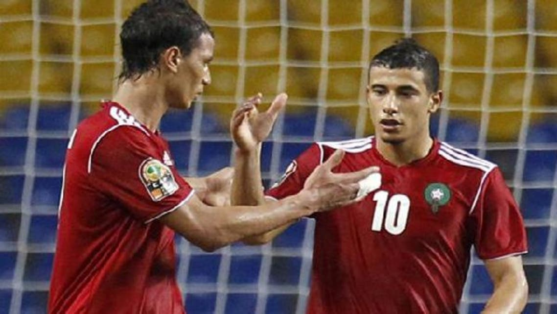 """Younes Belhanda, right, said, \\"""" """"We have been waiting for this Nations Cup to make up for the last time.\\"""" (Reuters)"""