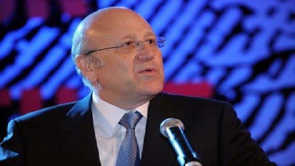 لبنان کے وزیر اعظم نجیب میقاتی العربیہ سے گفتگو کرتے ہوئے