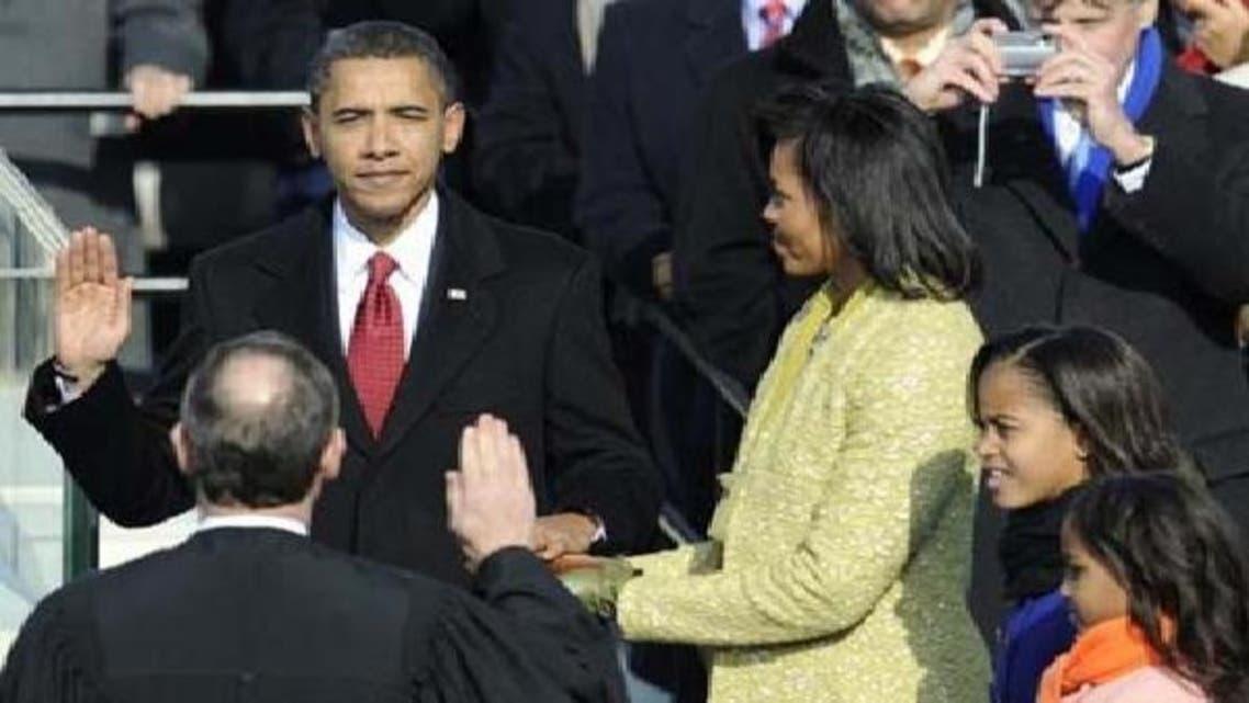امریکی صدر براک اوباما دوسری مدت صدارت کے لیے اپنے عہدے کا حلف اٹھا رہے ہیں