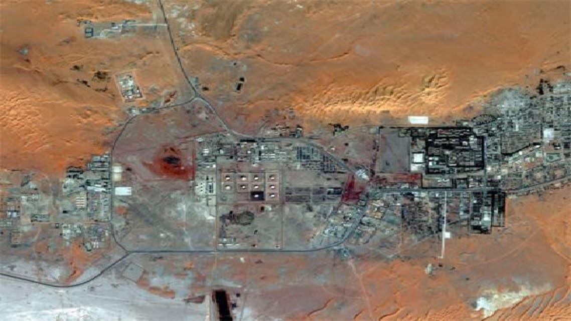 صورة جوية من الاقمار الاصطناعية لمجمع عين أميناس في الجزائر