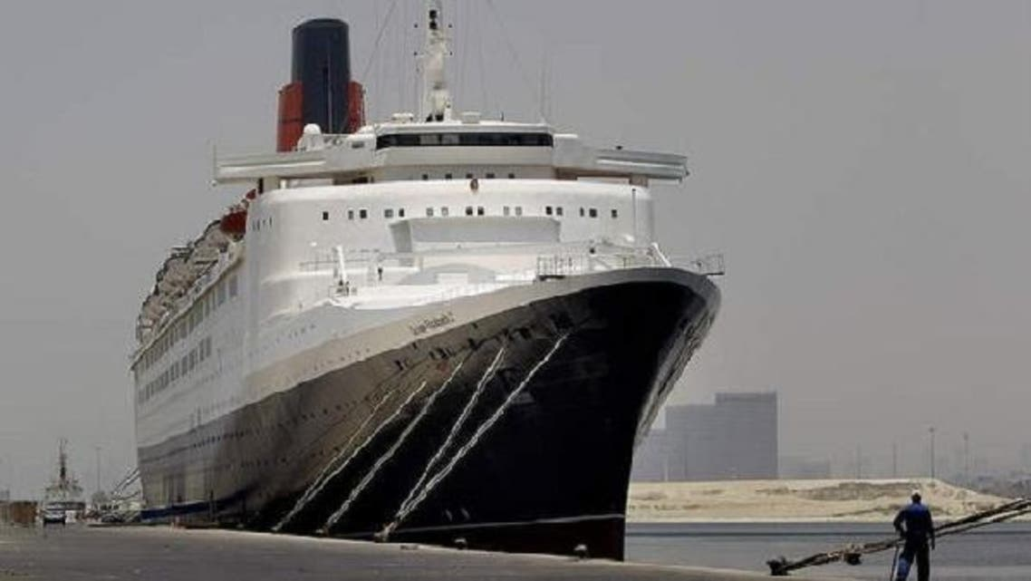 Dubai's cruise ship, Queen Elizabeth 2, is to be upgraded and converted into a luxury hotel, which will accommodate 500 rooms, a mall and marine museum that will be moored in an Asian dock. (AFP)