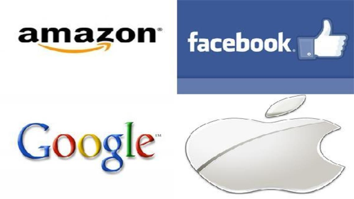 Amazon, Google, Facebook and Apple have been currently ranked as top four giants that animate large parts of these networks molding them in different forms and shapes. (Al Arabiya)