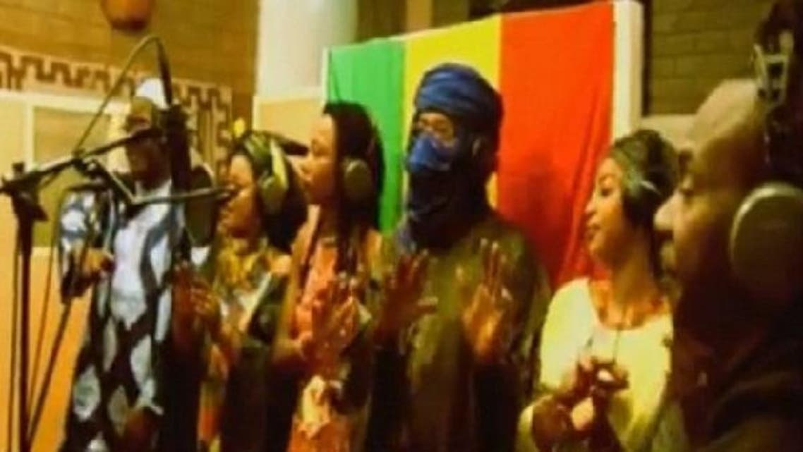 """Mali's biggest artists compose a seven-minute song titled """"Mali Ko"""" ('For Mali' in the local Bambara language). It features about 40 artists, including five from northern Mali which has been under the control of jihadist rebels since April. (YouTube picture)"""
