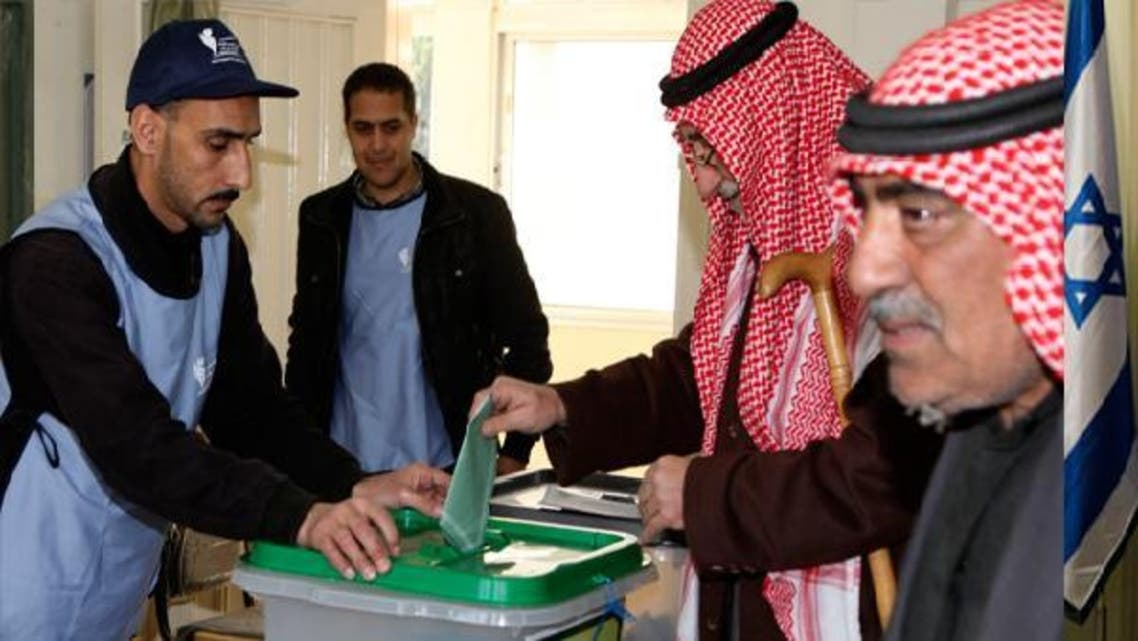 A man casts his ballot at a polling station in Amman Jan. 23, 2013. Jordanians voted on Wednesday in their first parliamentary elections since the Arab Spring revolts, but a boycott by the main Islamist party will ensure no repeat of an Egypt-style revolution via the ballot box. (Reuters)