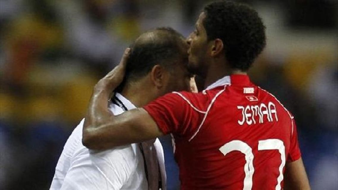 Tunisia striker Issam Jemaa has sprained his knee  in his country's opening match this week. (Reuters)