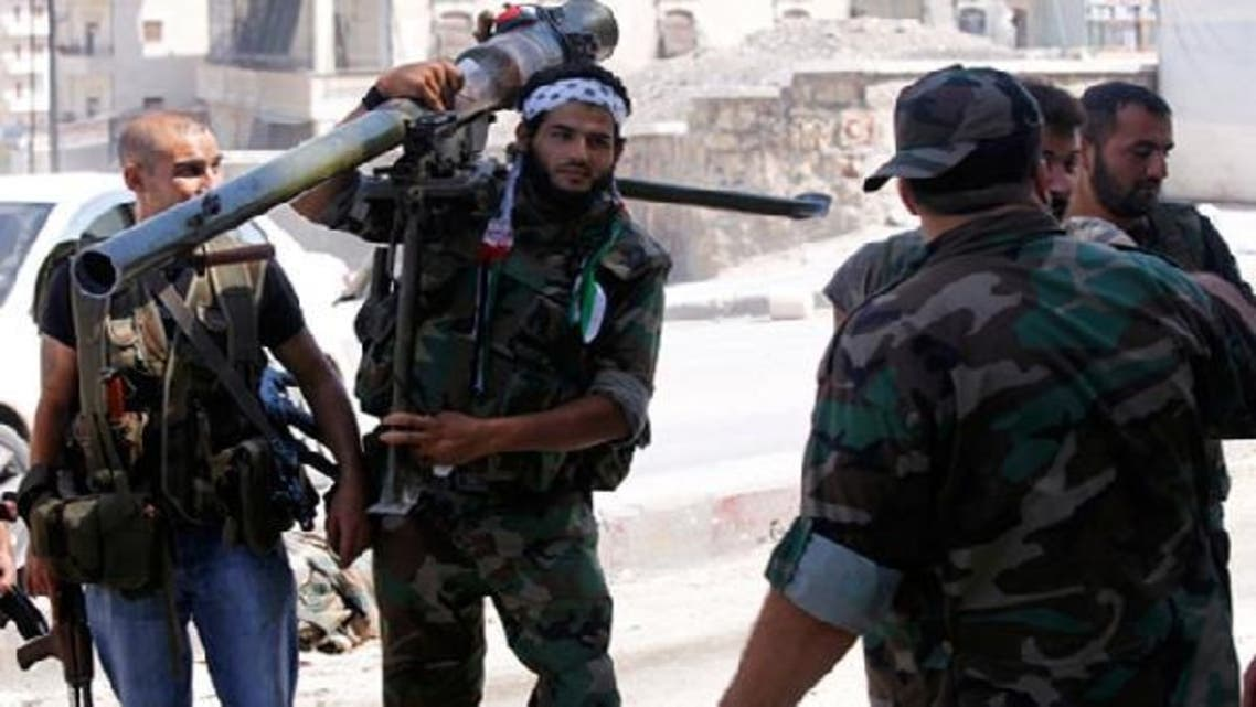 The Free Syrain Army are fighting regime troops at a base defending Aleppo's international airport. (Reuters)
