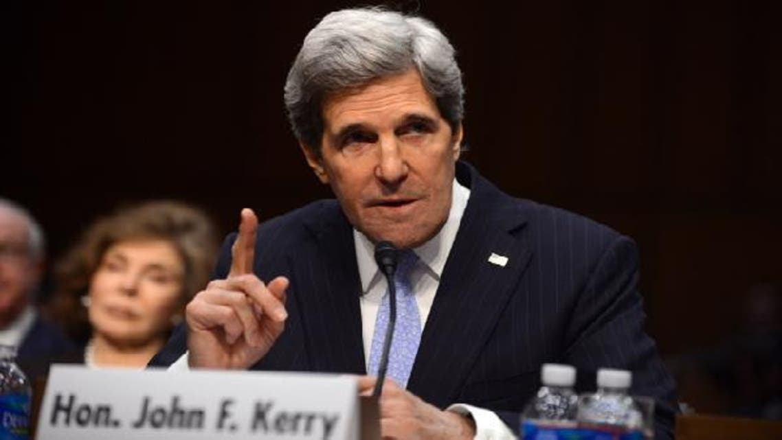 U.S. Senator John Kerry(D-MA), U.S. President Barack Obama's nominee for Secretary of State, testifies before the Senate Foreign Relations committee during his confirmation hearing on Capitol Hill in Washington, DC, on Jan. 24 (AFP)