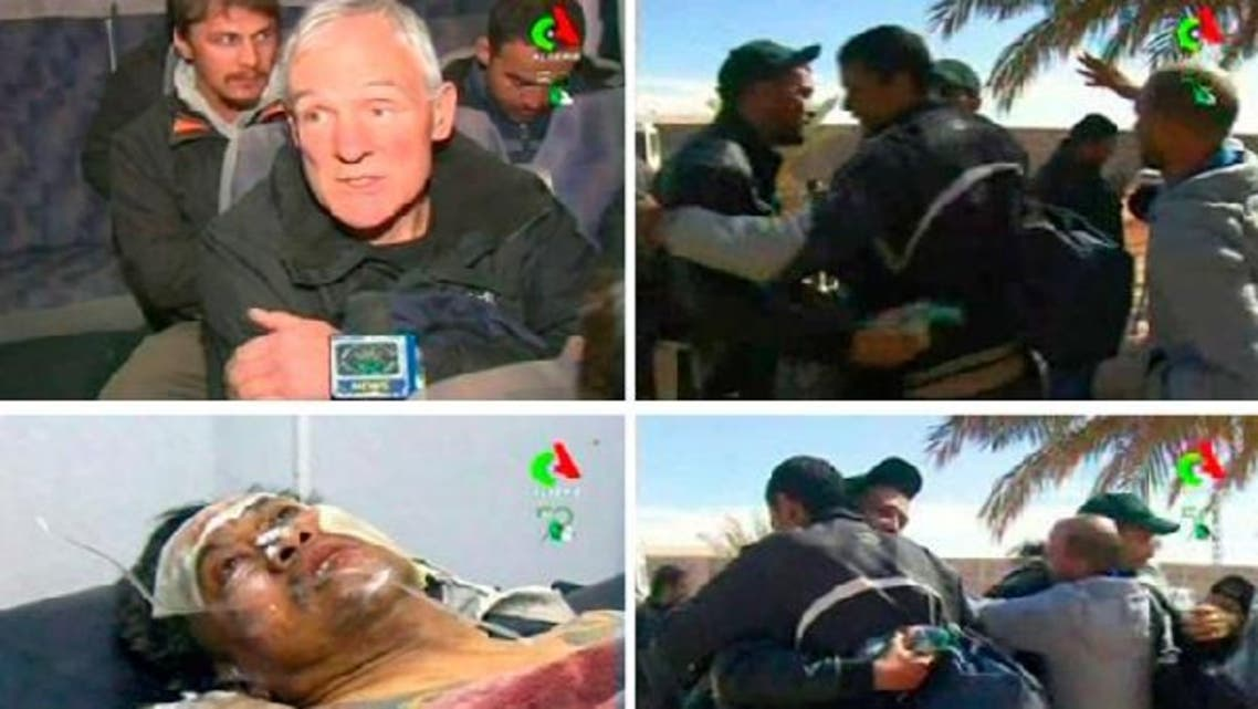 Hostages react after they were freed from a gas facility in Algeria where Islamist militants were holding them in Tigantourine, in this still image taken from video footage January 18, 2013. (Reuters)