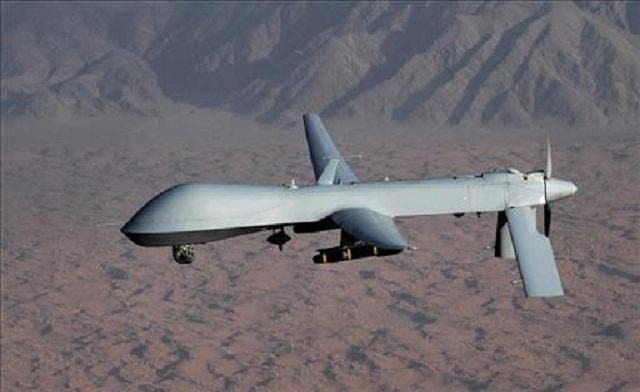 A U.S. drone killed four suspected al Qaeda militants in central Yemen on Monday. (Reuters)