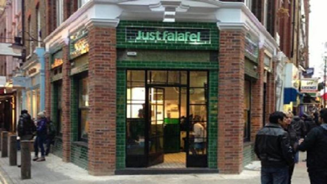 The vegetarian fast-food restaurant, Just Falafel, opens in London. (Courtesy: Just Falafel Facebook)