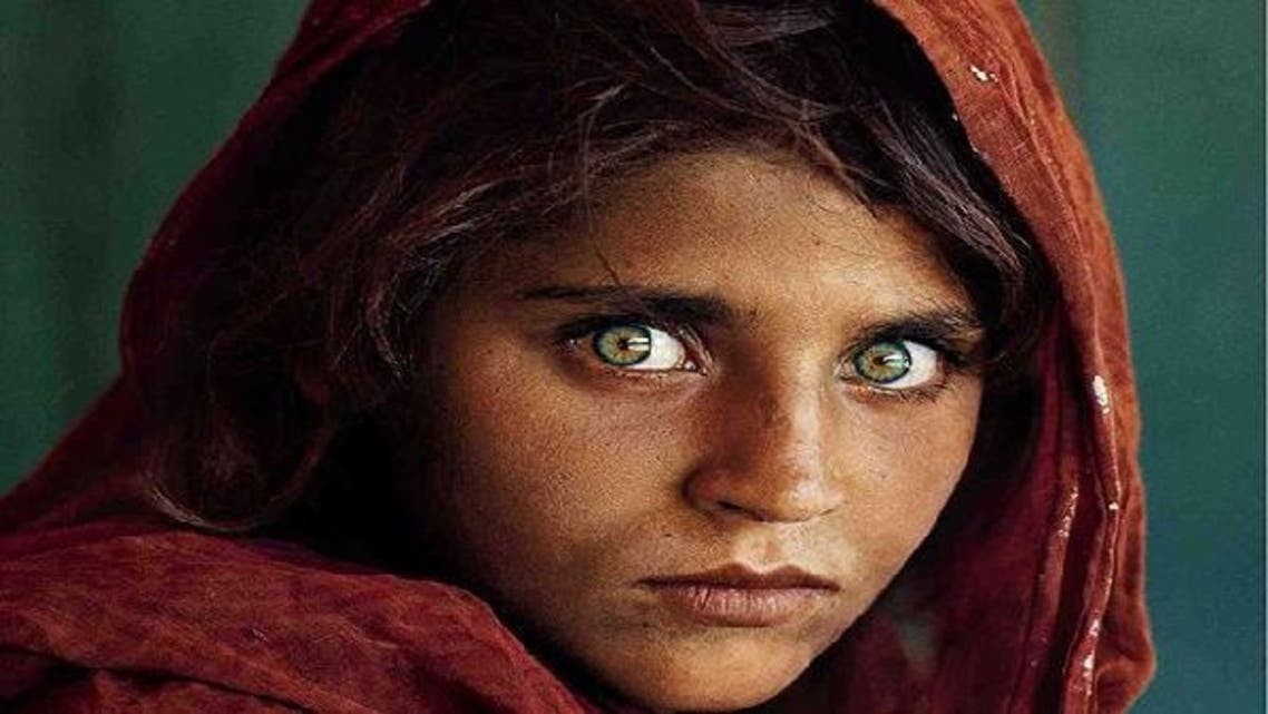 """American photographer Steve McCurry, who captured this famous image known simply as the """"Afghan girl,"""" has displayed his work in a Dubai gallery. (Image courtesy: The National Geographic)"""