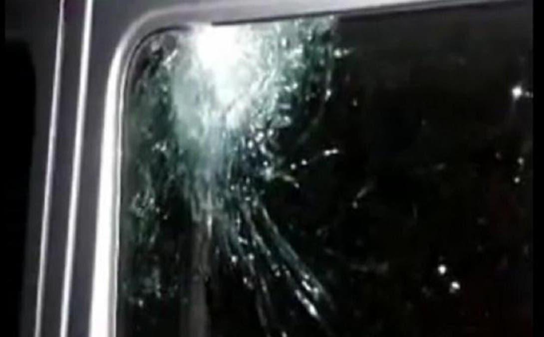 Marks of gunshots on the car of Italian Consul Guido De Sanctis. (Courtesy photo of Free Libya)