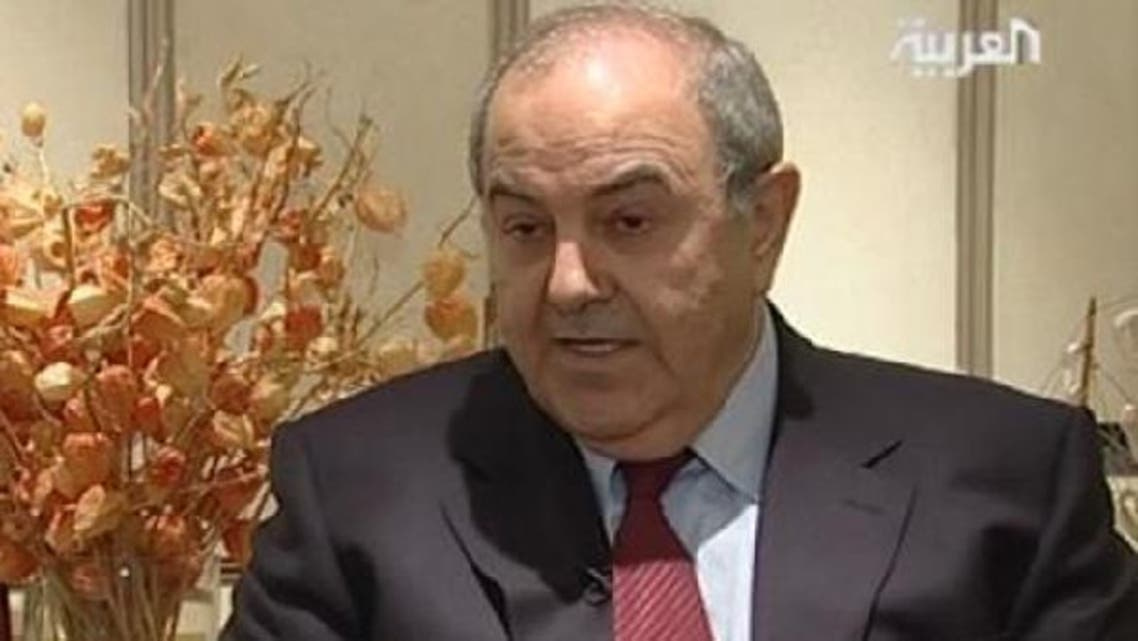 Former Iraqi  Prime Minister Eyad Allawi (picture) says the current Iraqi government is backed by Iran and the United States. (Al Arabiya)