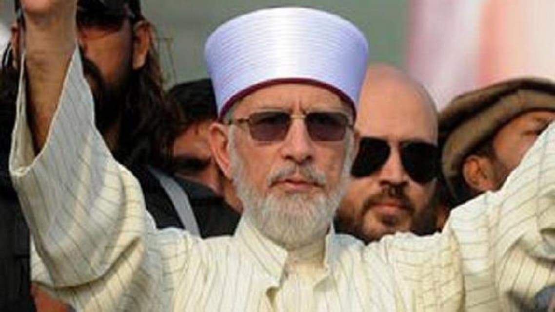 The scholar and political activist, Dr. Mohammad Tahirul Qadri, recently held a massive public rally in Lahore. (AFP)