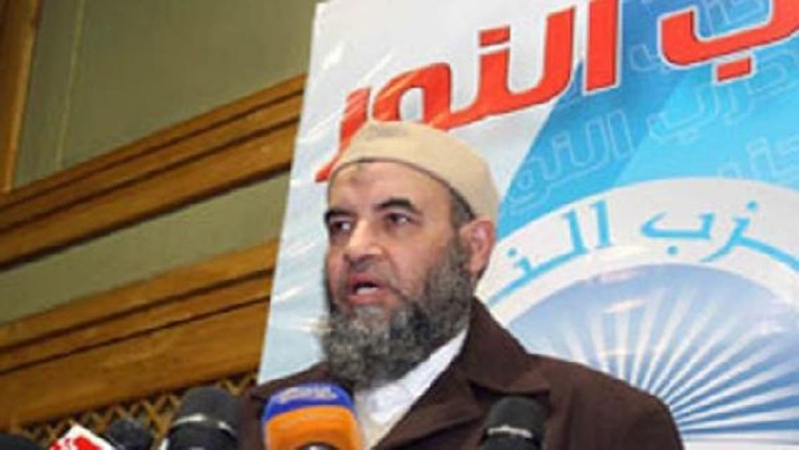 Younis Makhyoun, a 58-year-old cleric and trained dentist, was selected in a consensus vote to lead the Salafi Al-Nour party. (Al Arabiya)