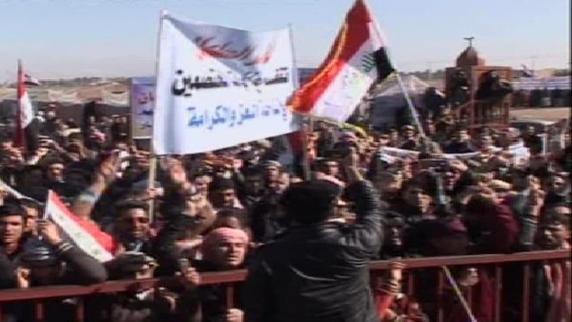 مشهد من متظاهرو الأنبار