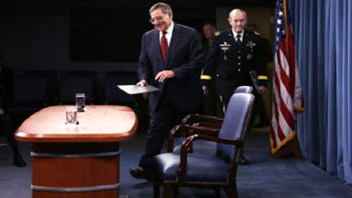 U.S. Defense Secretary Leon Panetta (L) said Washington is increasingly focused on how to secure Syria's chemical arms if President Bashar al-Assad's regime falls. The United States is not considering sending troops in Syria post Assad, he added. (AFP)