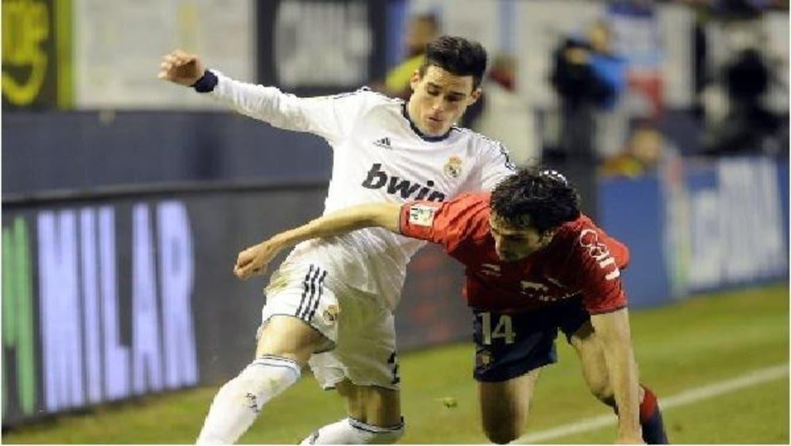لقطة من مباراة ريال مدريد وأوساسونا في الدوري الإسباني