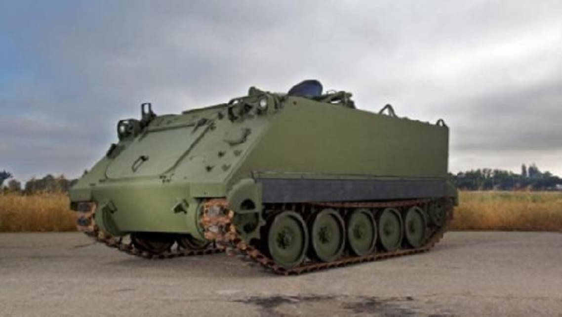 The M113 armored personnel carriers (APCs) arrived by ship to Beirut on Sunday, the army said in a statement. (Reuters)