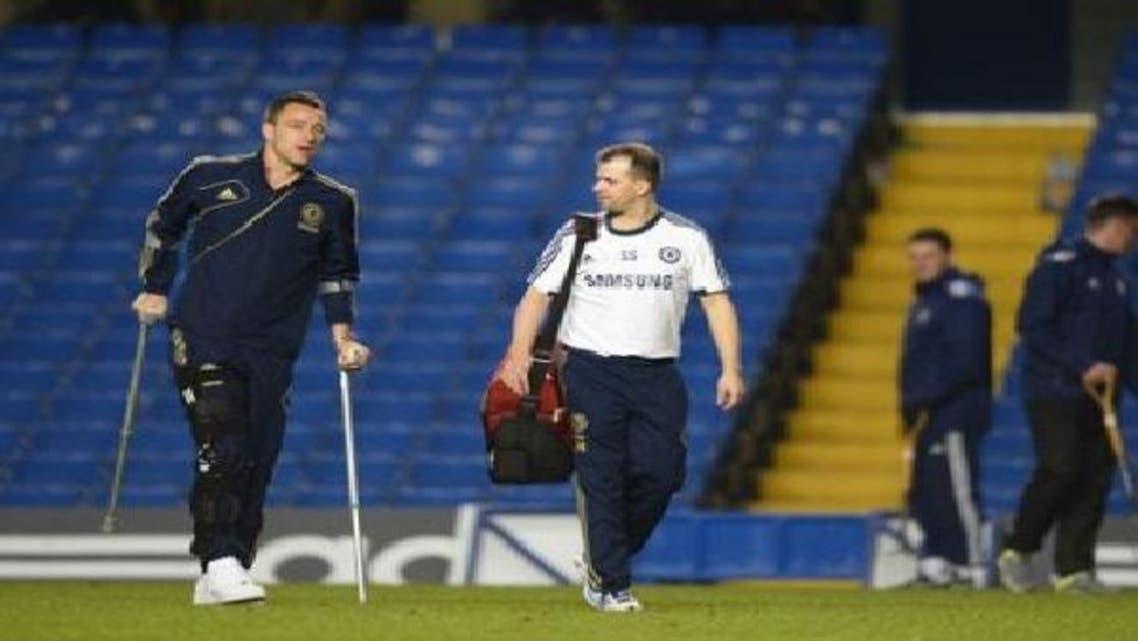 تيري غاب عن الملاعب منذ إصابته في ركبته اليمنى خلال مباراة فريقه مع ليفربول