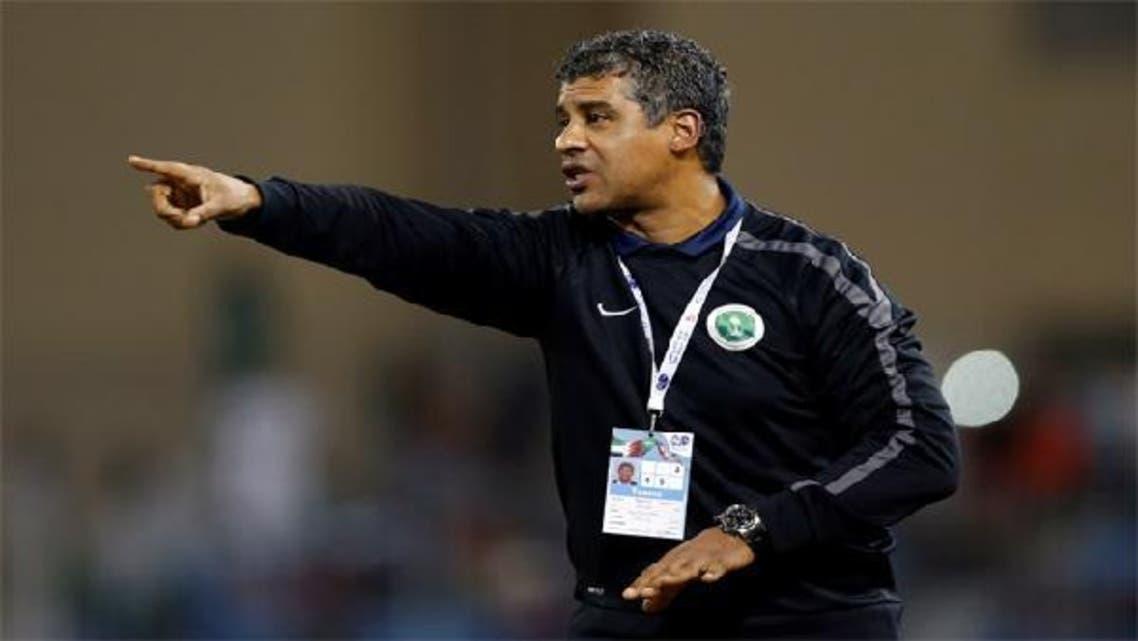 Saudi Arabia\'s head coach Frank Rijkaard reacts during their Gulf Cup tournament soccer match against Iraq in Isa Town Jan. 6, 2013. (Reuters)